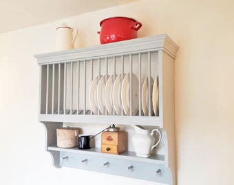 Kitchen Plate Rack | Handmade country style kitchen storage by Beaufort & Dunham