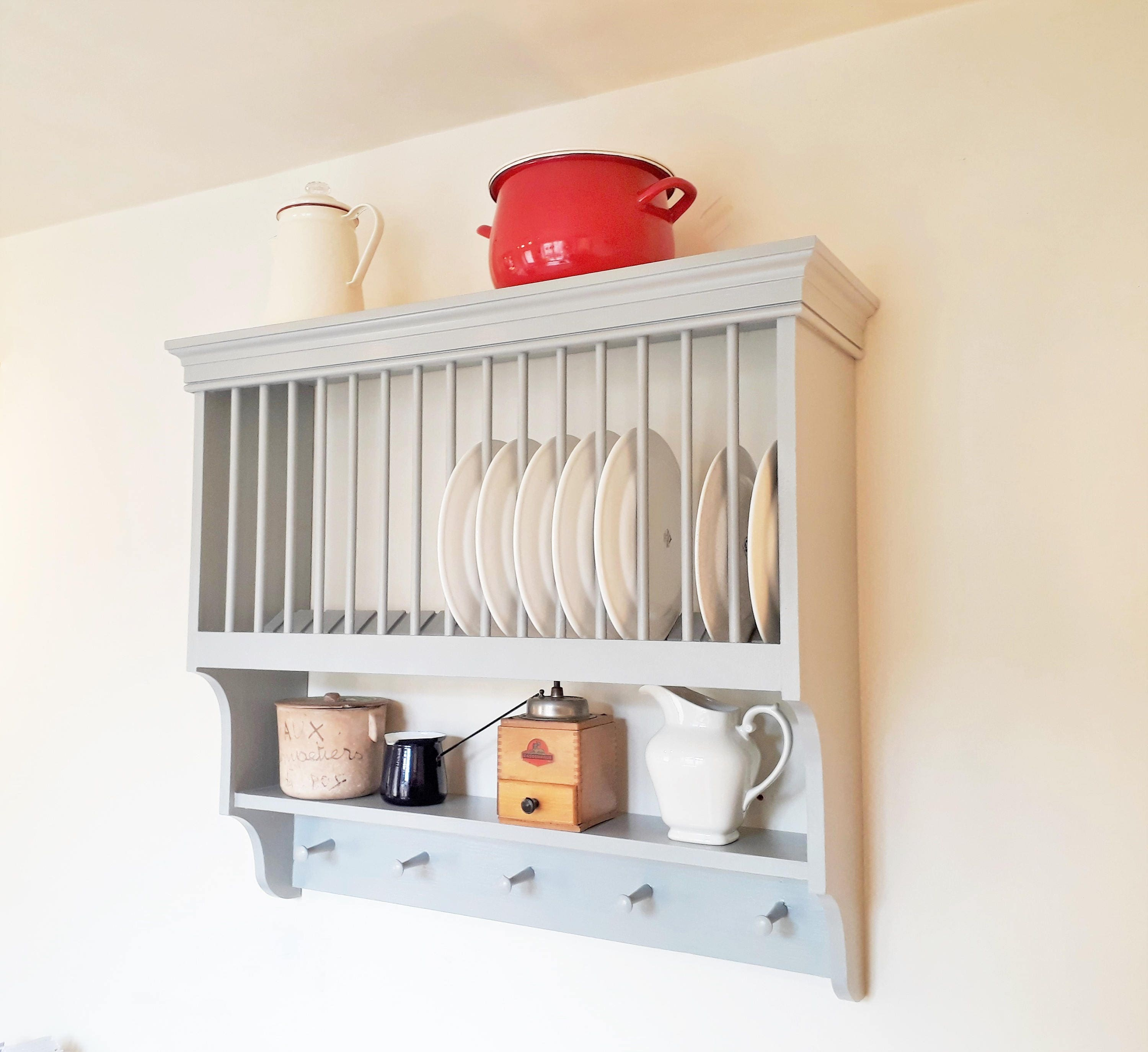 country kitchen plate rack kitchen plate rack handmade country style kitchen storage by 6122