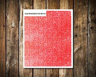 21 Red Glitter Headers - Fits Erin Condren Vertical & Happy Planner