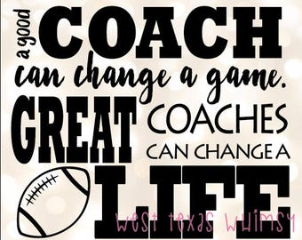 Football Coach SVG, best coach svg, football season coach svg, football fan svg, inspirational coach svg, coach gif, instant download