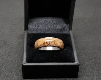 Live Oak Burl Ring Size 8