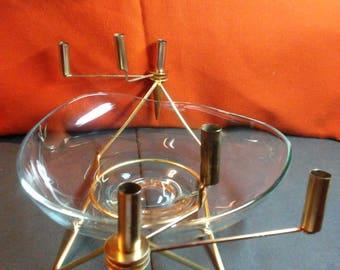"""Mid Century """"Swivelabra"""" centerpiece fruitbowl"""