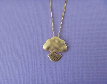 cloud and bird Necklace: spring is here!