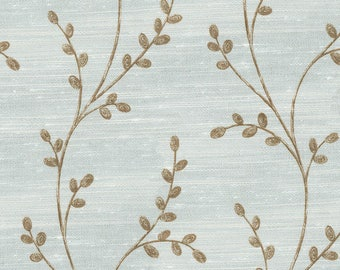 Gale Ivory- leaf/twig Organic Cotton Curtains, Accent Pillows, Valance
