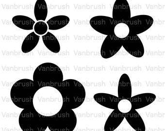Flowers icons Illustrations. PNG, SVG, EPS (vector).