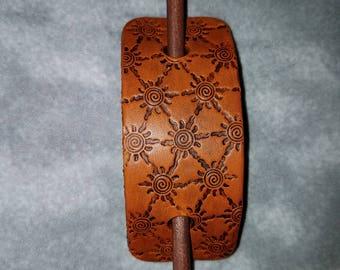 Leather Barrette