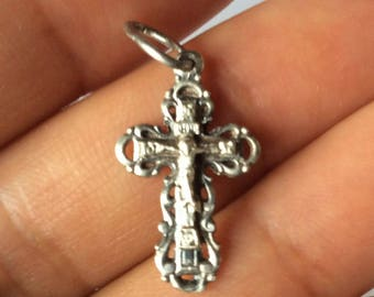Very beautiful sterling silver cross with a crucifix