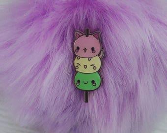 Dango Cat Pin Badge