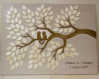 Wedding Tree Guestbook Alternative Guestbook Cats