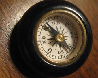 Original Antique button french bakelite with compass 25  mm