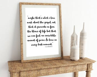 YOU PRINT - What I Love About the Gospel Print - 2 sizes