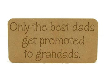 Only the best dads, best dads, Promoted to granddads, fathers day gift, fathers day present, gift idea, fathers day gift idea