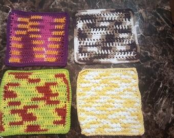 Crochet Dishcloths,Dishcloths,8x8 Dishcloth,Handmade Dishcloth,Handmade Crochet Dishcloth,Cotton Dishcloth, Dishcloths, Dish Rag