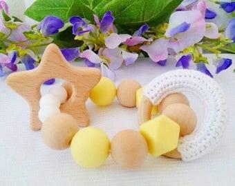 Wooden Baby Teether Natural Wooden Baby Teethers Teething Wood