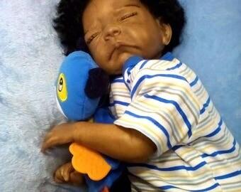 African-American-AA-Biracial-Ethnic-Latina-Realistic-Baby-Boy-Doll-Josie