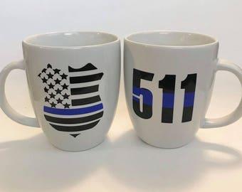 Police badge mug