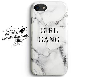 Girl Gang Marble iPhone 8 case, White Marble iPhone 7 Plus case, Marble iPhone 6s case, Marble iPhone 6 Plus case, Gift For Her,