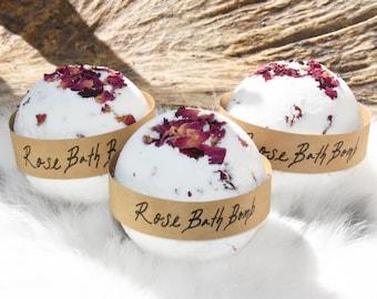 Rose Bath Bombs. Rose Bath Fizzy. Large Bath Bombs.