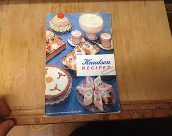 Knudsen Dairy products recipe book, 1962- 64 pages