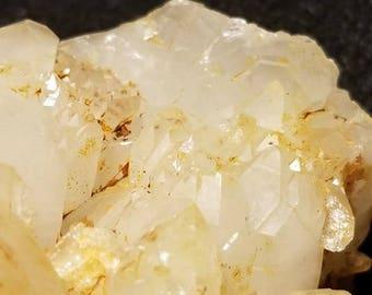 Elestial quartz cluster