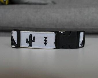Dog collar, adjustable dog collar, camping print collar, pet collar, custom dog collar, fabric dog collar