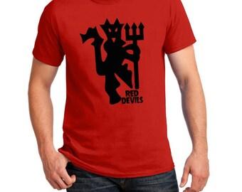 Manchester United Inspired Red Devil Soccer Tee (Red/Black)