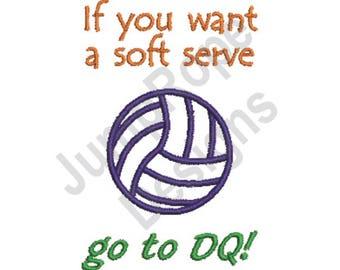 Volleyball Soft Serve - Machine Embroidery Design
