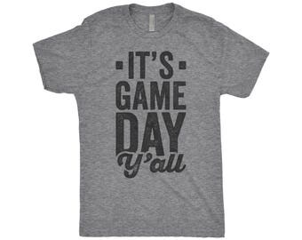 It's Game Day Y'All Shirt, It's Football Y'all, Tailgate Shirt, Fantasy College Football, Game Day Shirt, Next Level Apparel Tri-Blend Shirt