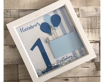 Birthday photo frames available for any age number different colours available Keepsake memory frame