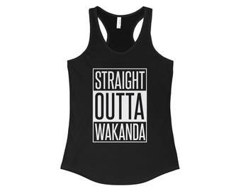 Straight Outta Wakanda WomenS Racerback Tank Top