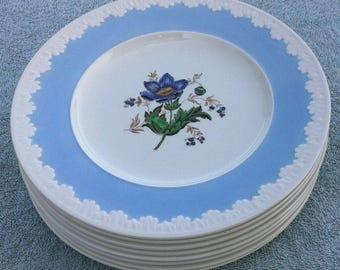Wedgwood Corinthian Hampton Court luncheon plates (8)