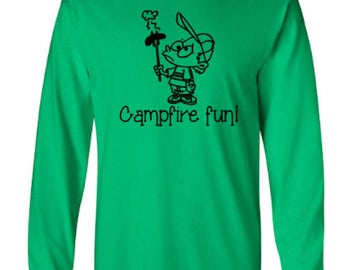 Campfire Fun Adult Long Sleeve Unisex Tshirt