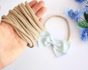 Nylon baby headbands, SUPER Soft XL Light nude  nylon headbands Wholesale !! Please Read Description!!!! ***