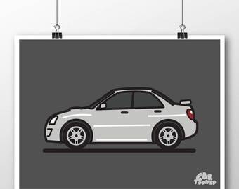 04-05 Subaru WRX Poster