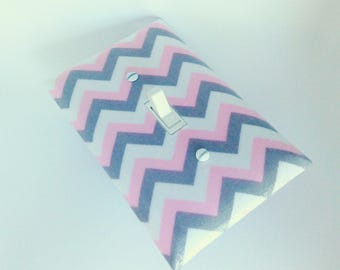 Chevron Switchplate Pink - Light Switch Plate - Light Switch Cover - Home Decor - Wall Decor - Nursery Decor - Baby Room - Kids