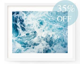 Ocean Wall Art, Ocean Print, Sea Print, Ocean Printable, Scandi Print, Ocean Photo, Nature Art, Beach Print, Ocean Waves, Coastal Wall Art