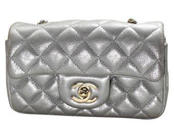 Silver Chanel Bag
