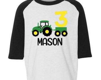 Birthday Tractor Shirt, Personalized Tractor Birthday Shirt