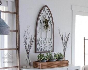 rustic window frame gothic window frame art farmhouse window frame decor farmhouse modern - Window Frame Art