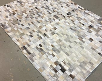 Cowhide Patchwork Area Rug - 4.4 x 6.5 ft. -FREE SHIPPING