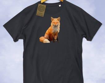 Fox Low Poly Print Mens T-Shirt