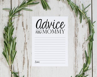 Advice For Mommy Card // Baby Shower Advice Card // Baby Shower // Printable // Instant Download // Digital Download