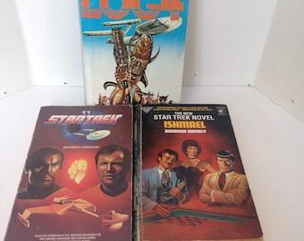 Three Vintage Star Trek Novels - Paperbacks