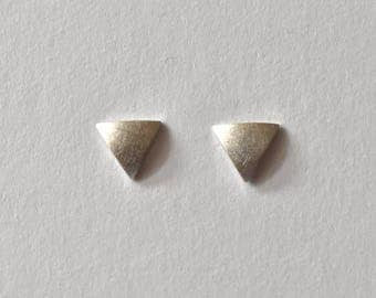 triangle ear studs silver geometric