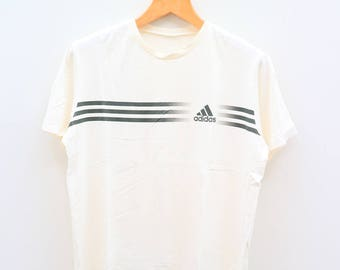 Vintage ADIDAS Triline Sportswear White Tee T Shirt