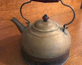 Vintage Copper Tea Kettle