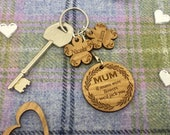 Personalised Mum Key Ring...