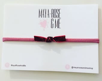 Pink Glitter Sweetie Bow