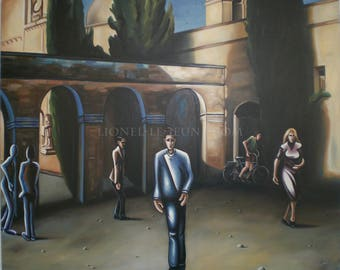 OUT of the mass - figurative painting