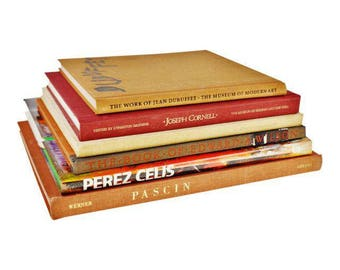 6 Vintage Artist Coffee Table Books Perez Celis Signature